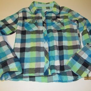 Justice Flannel Shirt Size 10